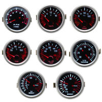 2'' 52mm Car LED Boost Vacuum Water Oil Fuel Temp Pressure Tachometer Volt Gauge