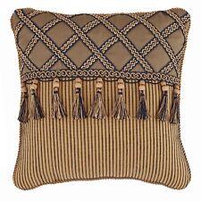Croscill Cordero Tasseled Corded Square Fashion Pillow 2 Pillows 16*16