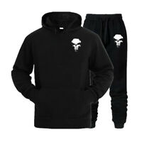 The Punisher Tracksuit Mens Hoodie & Pants Sportswear Joggers Sweatshirt Suit