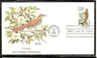 US SC # 1962 State Birds And Flowers ( Georgia ) FDC. Fleetwood Cachet . 1