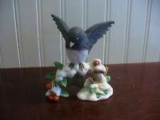 1991 Lenox Hand Painted Bisque Porcelain Dark Eyed Junco Bird Figurine
