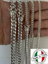 Cadena o Pulsera Cubana  Unisex Con Cierre Elegante Plata Solida 925 De ITALIA