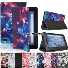 For Amazon Kindle Fire 7 Alexa 2015 & 2017 & 2019 - Leather Cover Case + Stylus
