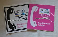 2x OLD POST Telekom Sticker Credit Card Phone Cards Telephone Phone Booth