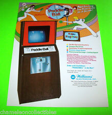 Williams 1973 PADDLE BALL Ping Pong Original NOS Arcade Flyer 1st WMS Video Game
