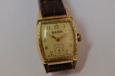 Bulova Vintage Uhr Handaufzug Vergoldet mit Original Box
