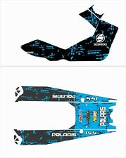 POLARIS 144 tank top tunnel decal GRAPHICS WRAP  800 600 X AXYS blue splatter