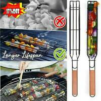 Easy Non-Stick Kebab Barbecue Basket Coated Steel BBQ Barbecue Grill Basket