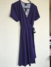Agnes & Dora Nightingale Wrap Dress Women's Size XS Purple