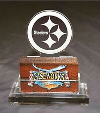 🏈 Pittsburgh Steelers Logo Acrylic Caseworks Business Card Holder Desk Gift Dad