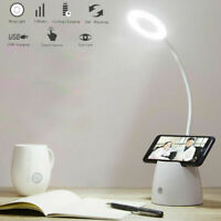 Dimmable LED Desk Bedside Reading Lamp Rechargeable Table Touch Control Light UK