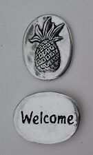 p welcome Pineapple spirit HANDCRAFTED PEWTER POCKET TOKEN CHARM basic fertility