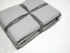 West Elm Pale Gray Washed Organic Cotton Full Sheet Set New