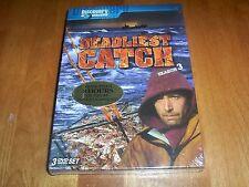 DEADLIEST CATCH SEASON 3 Alaska Crab Bering Sea DISCOVERY CHANNEL 3 DVD SET NEW
