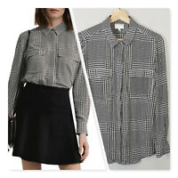 [ WITCHERY ] Womens houndstooth check Print Shirt  | Size AU 12 or US 8