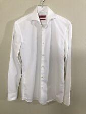 Hugo Hugo Boss Men's Dress Shirt White Size 15 Slim Fit Easy Iron EUC!