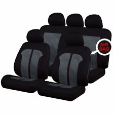 UKB4C Black/Grey Full Set Front & Rear Car Seat Covers for Dodge Ram All Years