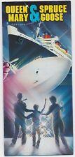 Vintage Travel Brochure - Queen Mary & Spruce Goose Cruise Ship Souvenir