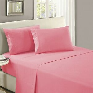 Mellanni 1 FLAT SHEET ONLY 1800 Hotel Collection Microfiber Single Top Sheet
