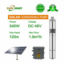 "540w 3""Solar water pump submersible screw DC system irrigation for agriculture"