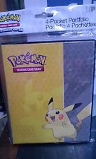 Pokemon Pikachu 4 Pocket Page Portfolio Album Binder Holds 80 cards fixed pages