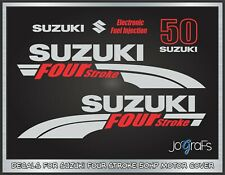 Suzuki 50hp Four Stroke Replacement Outboard Engine Decal Sticker Set Kit