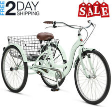 THREE WHEEL CRUISER BIKE Adult Tricycle Bicycle 3 Tire Seat Basket Single Speed!
