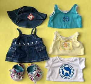 Build A Bear Workshop BBWS Clothing, Accessory and Shoe 6 Item Lot