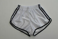 Frz. Vintage Shorts Gr.XS NEU Sporthose Short Sport Nylon Glanz shiny weiss gay