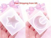 New Shiny Star and Moon Set Silicone Mold - Resin, Epoxy, Casting - Ship from US