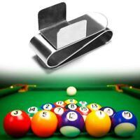 Portable Chalk Holder Billiard Pool Cue Snooker Magnetic Stainless Steel V0K2