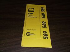 January 1981 Chicago Rta Route 569 Lewis Crosstown Bus Schedule