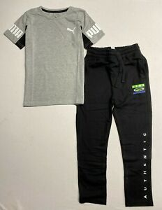 Puma Boy's Fleece Sweatpants and T-Shirt Set (Youth Ages 7-17 Years)