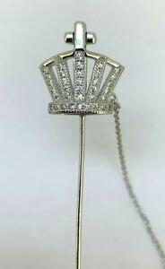 Krone  Anstecknadel  Zirkonia    925er Silber