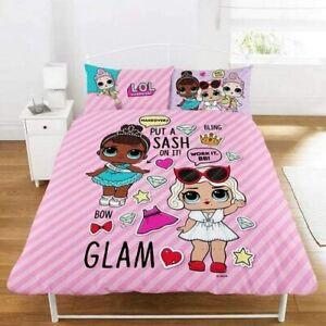 Double Bed Duvet Cover Set LOL Surprise Glam Reversible Bedding Set