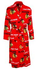 """Chicago Blackhawks NHL """"Facade"""" Men's Micro Fleece Robe"""