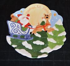 "Lenox Rudolph The Red Nosed Reindeer cookies For Santa Plate 10"" Nib Xmas Decor"