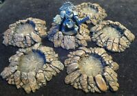Warhammer Terrain Craters set of 6