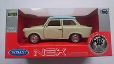 WELLY TRABANT 601 BEIGE AND BLUE 1:34 DIE CAST METAL MODEL NEW IN BOX