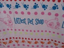 Littlest Pet Shop LPS Twin Flat Sheet Pink Novelty Fabric Cutter Craft DOM1A