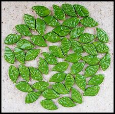 50 Handmade Ceramic Leaf Mosaic Tiles - Low Fired