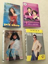 4 Vietnamese Cassette INSERTS ONLY Ngoc Lan Gold Album Thuong Qua Vietnam