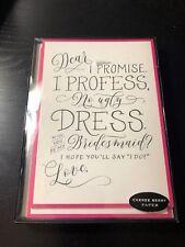 Cheree Berry Bridesmaid Invites Invitation Cards Envelopes - 6 count
