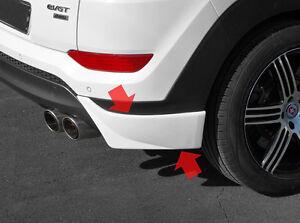Rear Bumper Lip UNPAINTED 2p for 2016 2019 Hyundai Tucson