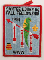 OA Lodge 116 Santee eX1981-3, Fdl; Fall Fellowship [D1724]