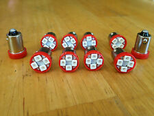 10 Red Fits Studebaker BRIGHT 12V LED Instrument Panel Light Bulb Lamp 53 57 NOS