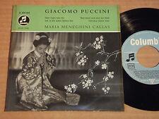 """MARIA CALLAS - GIACOMO PUCCINI - EINES TAGES SEHN WIR u.a. -  7""""-EP (13)"""