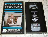 Handling Reservations Properly Hospitality Industry VHS