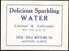 Coca-Cola Delicious Sparkling Water Bottle Label USA ca. 1910 Bottles Label