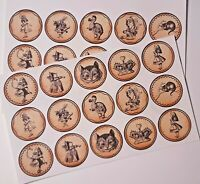 12-36 UNCUT SCRAPBOOKING CRAFT EMBELLISHMENT 80mm GIFT TAG Vintage Fairy Faeries